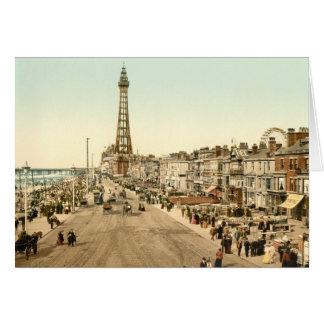 Blackpool Promenade, Lancashire, England Greeting Card