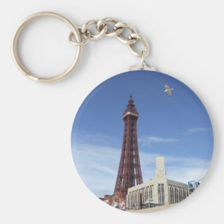 Blackpool Tower Basic Round Button Key Ring
