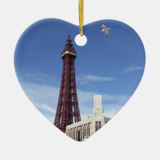 Blackpool Tower Ceramic Heart Decoration