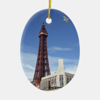 Blackpool Tower Ceramic Oval Decoration