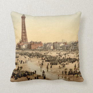 Blackpool Tower II, Lancashire, England Throw Pillow
