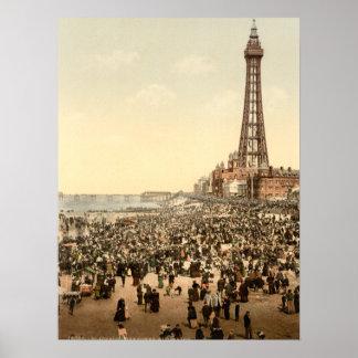 Blackpool Tower III, Lancashire, England Poster