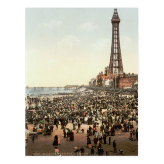 Blackpool Tower, Lancashire, England, c.1895 Postcard