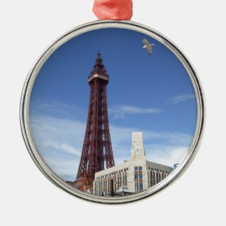 Blackpool Tower Silver-Colored Round Decoration