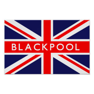 Blackpool UK Flag Poster
