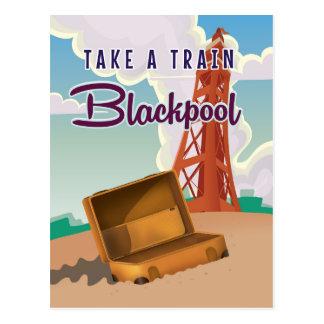 Blackpool vintage travel poster postcard