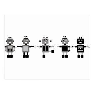 BlackRobot2 Postcard