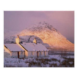 Blackrock Cottage, Glencoe, Highlands, Scotland 2 Poster