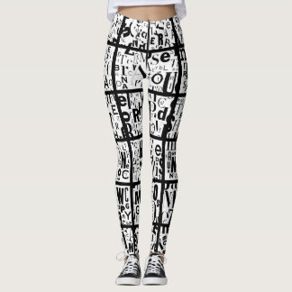 blacks & whites leggings