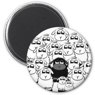 blacksheep 6 cm round magnet