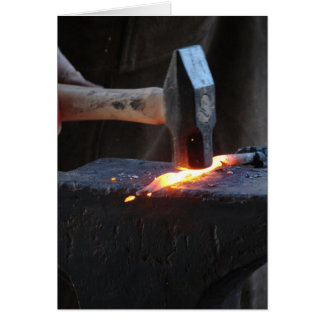 Blacksmith at Work 2 Card