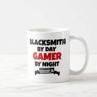 Blacksmith by Day Gamer by Night Basic White Mug