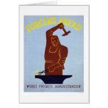 Blacksmith Forging 1940 WPA Cards