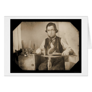 Blacksmith Working Daguerreotype 1846 Card