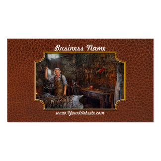 Blacksmith - Working the forge Business Cards