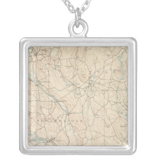 Blackstone, Massachusetts Silver Plated Necklace