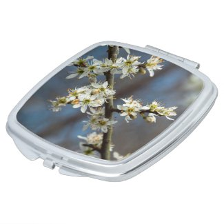 Blackthorn Blossom Compact Mirror