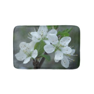 Blackthorn Flowers Bath Mat