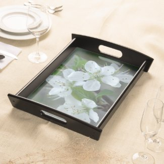 Blackthorn Flowers Serving Tray