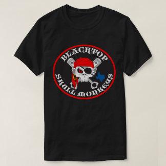 Blacktop Skull Monkeys Logo on Dark T Shirt Front