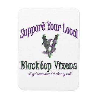 Blacktop Vixen Support Magnet