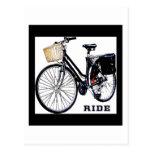BlackVintage Bike Ride Post Card
