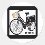 BlackVintage Bike Ride Sticker