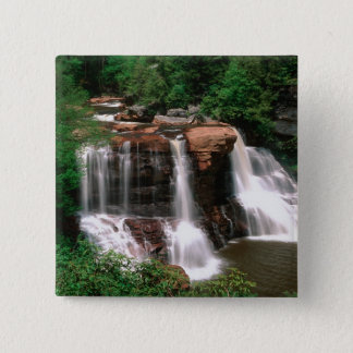 Blackwater Falls, West Virginia, scenic, 15 Cm Square Badge