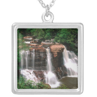 Blackwater Falls, West Virginia, scenic, Silver Plated Necklace