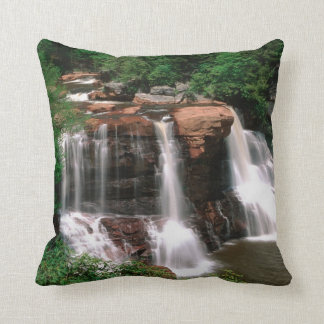 Blackwater Falls, West Virginia, scenic, Throw Pillow
