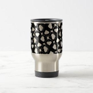 blackwhiteheartcutout mugs