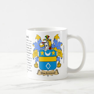 Blackwood, the Origin, the Meaning and the Crest Basic White Mug