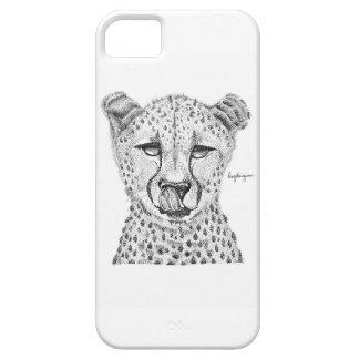Blackwork Cheetah Phone Case