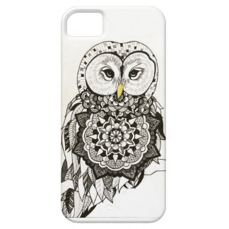 Blackwork Owl Phonecase iPhone 5 Cases