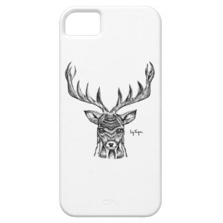Blackwork Stag Design Phone Case