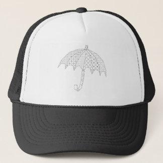 blackwork umbrella trucker hat