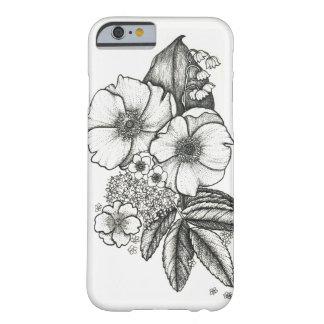 Blackwork wild roses phone case