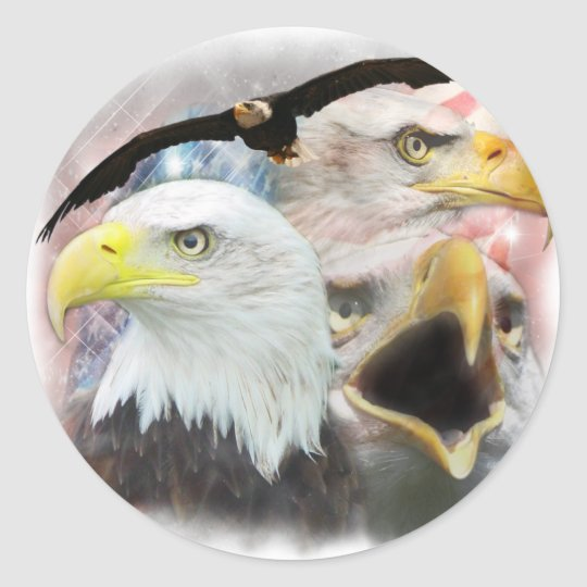 Blad Eagles Classic Round Sticker
