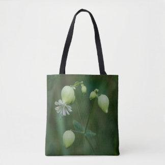 Bladder Campion Pretty White Wildflower Tote Bag