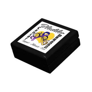 Bladder Cancer Awareness Heart Ribbon Small Square Gift Box