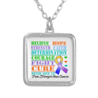 Bladder Cancer Believe Strength Determination Jewelry