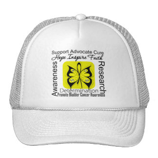 Bladder Cancer Butterfly Inspirations Mesh Hat