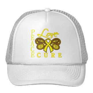 Bladder Cancer Butterfly Peace Love Cure Trucker Hat