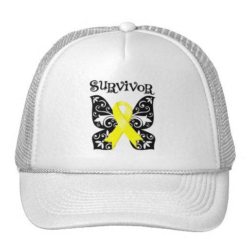 Bladder Cancer Butterfly Survivor Trucker Hats