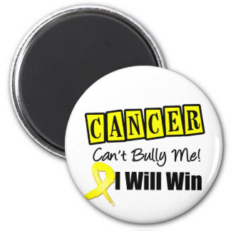 Bladder Cancer Cant  Bully Me I Will Win 6 Cm Round Magnet