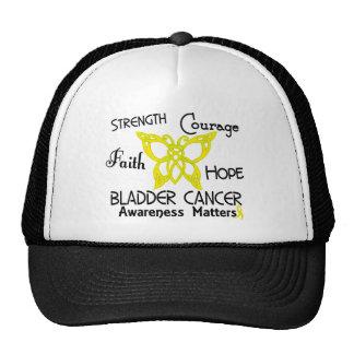 Bladder Cancer Celtic Butterfly 3 Trucker Hats