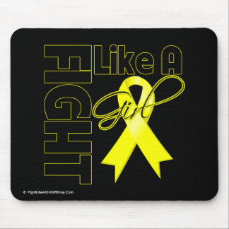 Bladder Cancer Chic Fight Like A Girl Ribbon Mouse Pad