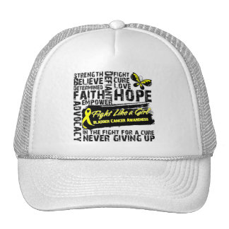 Bladder Cancer Collage - Fight Like a Girl Trucker Hat