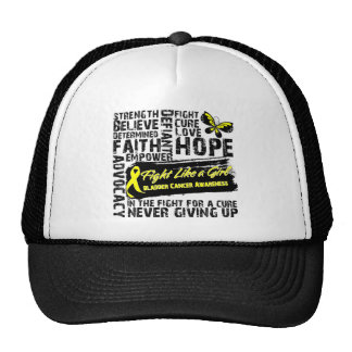 Bladder Cancer Collage - Fight Like a Girl Cap