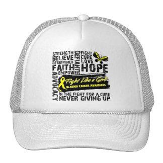 Bladder Cancer Collage - Fight Like a Girl Mesh Hat
